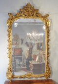 Large mirror Transition Louis XV / Louis XVI gilt wood