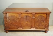 Crved walnut chest dated 1759