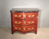 Small chest Louis XIV rosewood veneer and amaranth