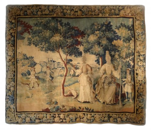 "Aubusson tapestry of the early 17th century representing ""Europe"""