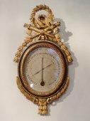 Louis XVI gilt wood Thermometer-Barometer