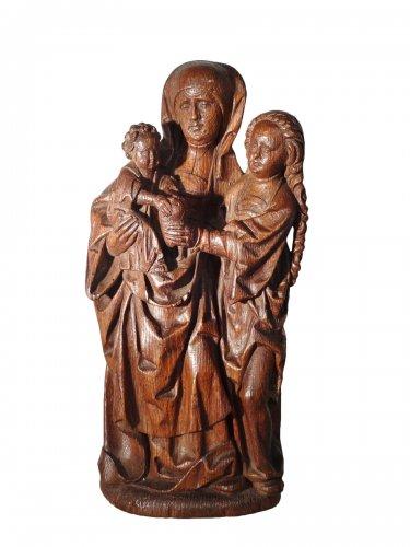Oak sculpture representing St. Anne, Flanders circa 1530