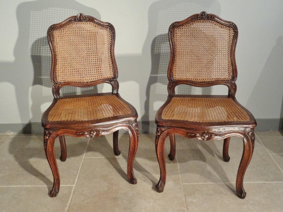 paire de chaises louis xv estampill es e dieudonn. Black Bedroom Furniture Sets. Home Design Ideas
