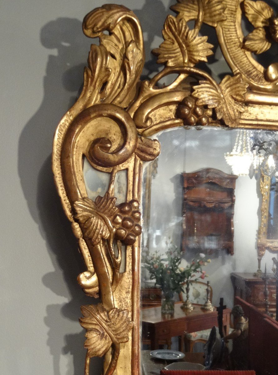 Miroir louis xv parecloses en bois dor d 39 poque xviiie for Miroir xviii