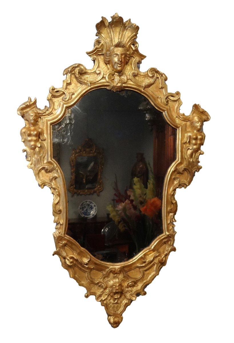 Italian Giltwood Mirror 18th Century Ref 56451