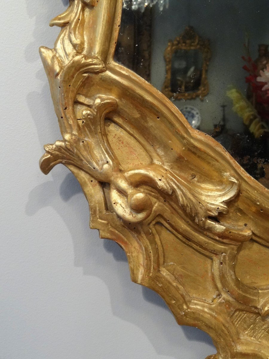 Miroir italien en bois dor d 39 poque xviiie for Miroir xviii