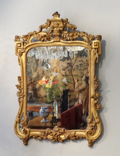Giltwood mirror 18th century