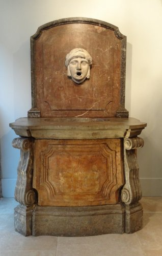 Fountain stone and marble 18th century - Architectural & Garden Style Louis XVI