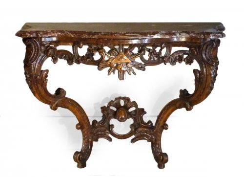 Console Louis XV With Freemason Attributes 18th century