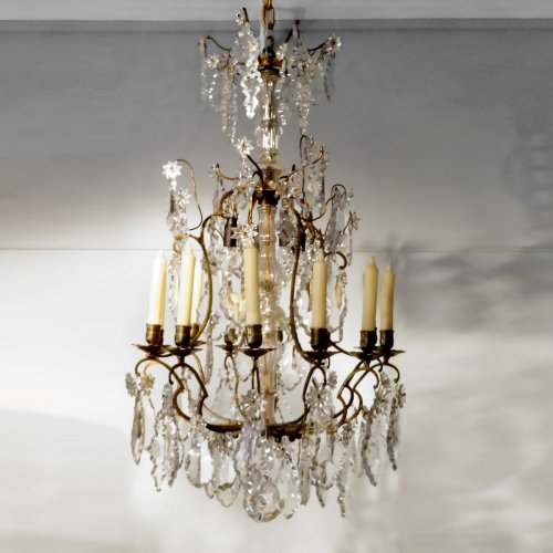 Chandelier in bronze and crystal 19th century