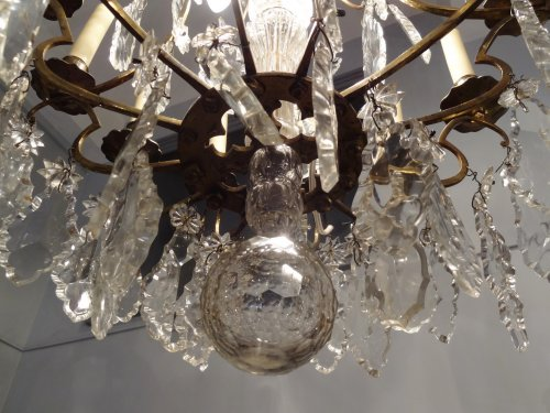 Chandelier in bronze and crystal 19th century -