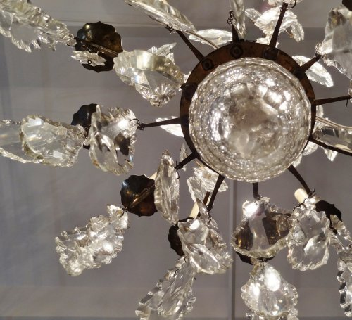 Louis-Philippe - Chandelier in bronze and crystal 19th century