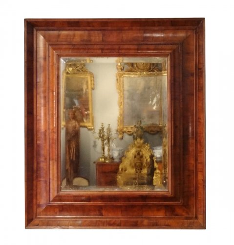 Mirror Louis XIII in olive wood 17th century