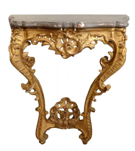 Small Louis XV giltwood console