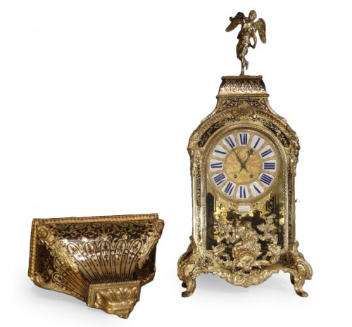 """Cartel and its console in """"Boulle"""" marquetry"""
