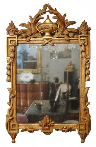 French 18th century gilt wood Mirror