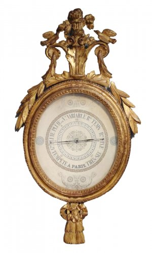 French giltwood Barometer of Restauration period