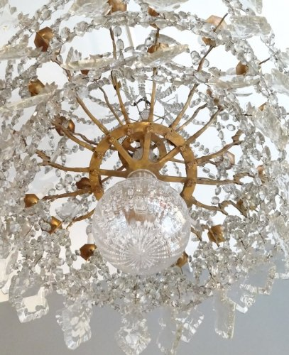 Large bronze and crystal chandelier 19th century - Lighting Style Napoléon III
