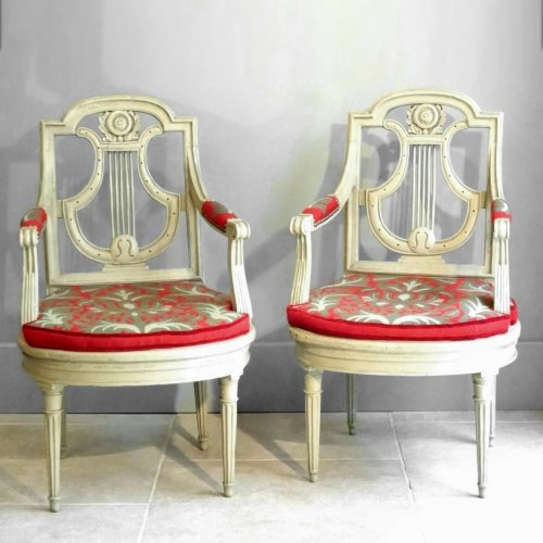 Pair of armchairs Directoire from early 19th century