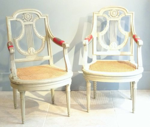 Seating  - Pair of armchairs Directoire from early 19th century