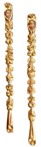 Pair of gilded wooden falls 17th century