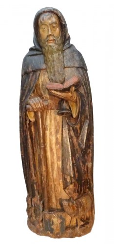 Saint Anthony Carved Wood, Late 16th Century
