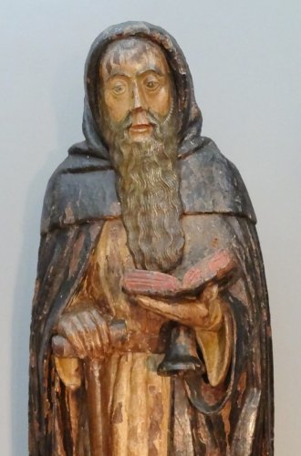 Saint Anthony Carved Wood, Late 16th Century -