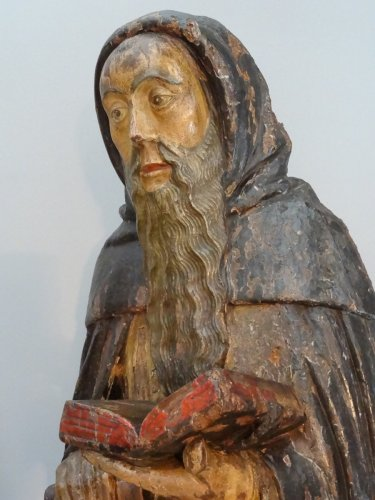 16th century - Saint Anthony Carved Wood, Late 16th Century