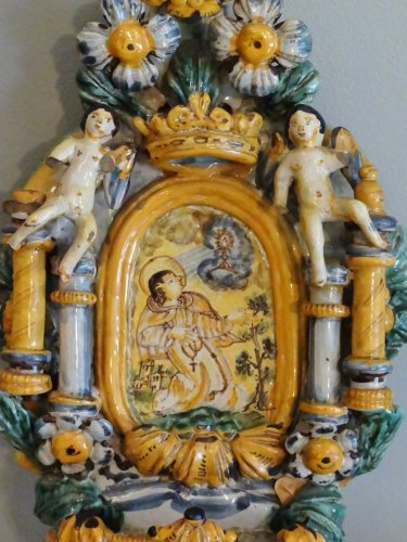 Italian stoup 17th century - Porcelain & Faience Style Louis XV