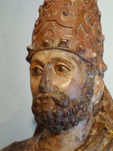 Sculpture  - Saint Pierre in majesty late 14th century early 15th century