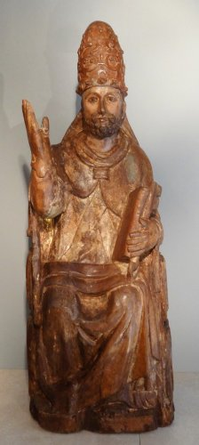 Antiquités - Saint Pierre in majesty late 14th century early 15th century