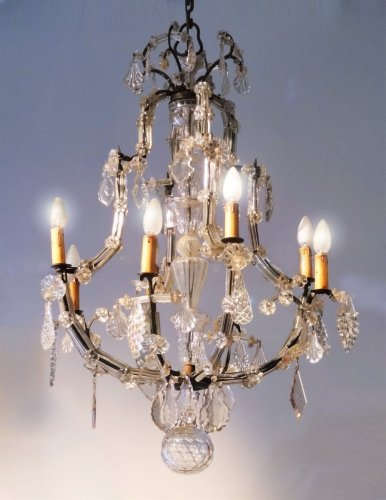 Antiquités - Crystal Chandelier And Wrought Iron From the Late 18th Century