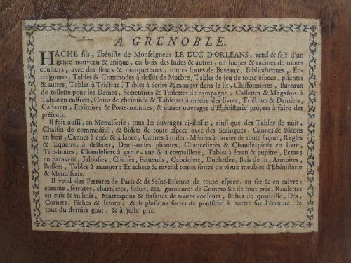 French Louis XV Bookcase by J-F. Hache (stamp and label) circa 1763 -