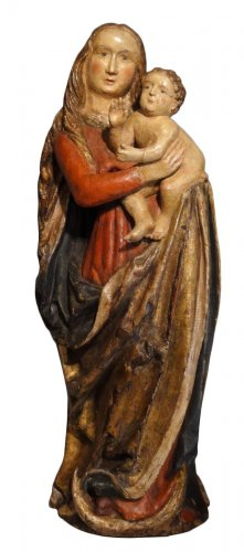 Madonna And Child carved wood around 1500-1520