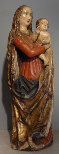 Sculpture  - Madonna And Child carved wood around 1500-1520