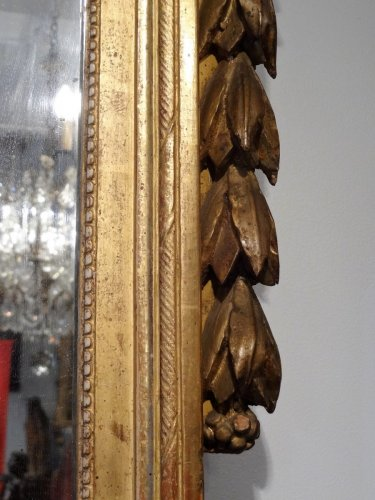 "Mirrors, Trumeau  - Franch Giltwood Mirror with ""Revolutionary attributes"" late 18th century"
