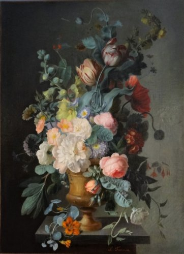 Bouquet of flowers - L.Fournier, 19th century