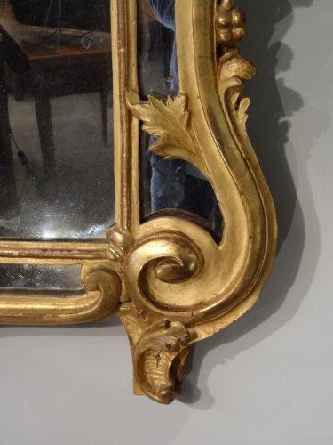 French  Louis XV giltwood Mirror -