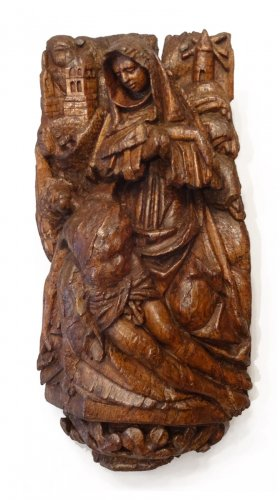 Pieta - Carved Panel 15th Century