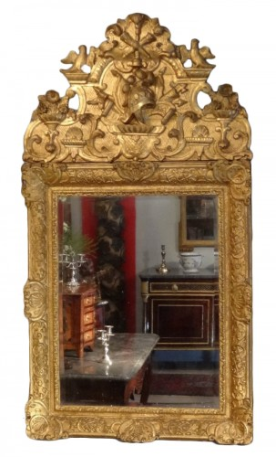 Louis XIV Mirror Gilt Wood Early 18th Century