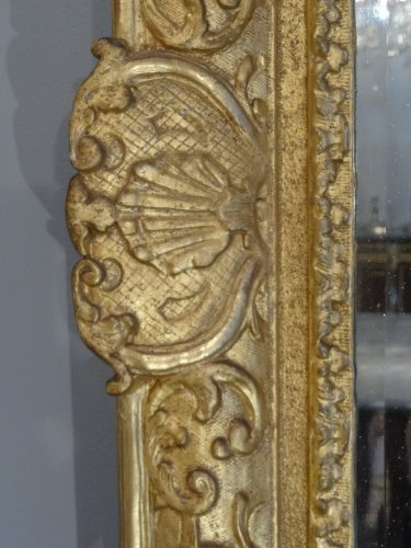 Mirrors, Trumeau  - Louis XIV Mirror Gilt Wood Early 18th Century