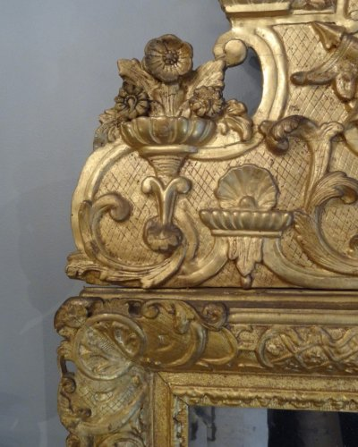 Louis XIV Mirror Gilt Wood Early 18th Century -
