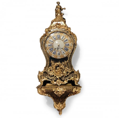 A Louis XV brass and tortoiseshell cartel