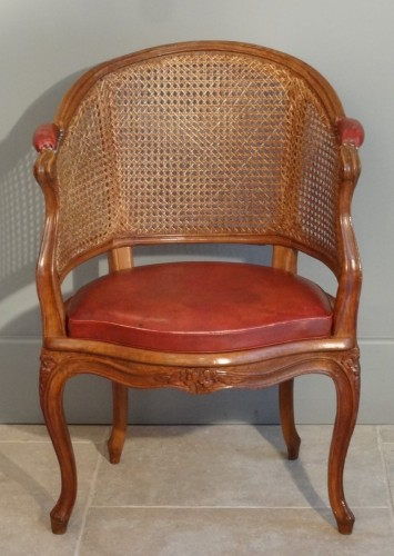 French Louis XV Fauteuil de bureau Stamped P. Bara - Seating Style Louis XV