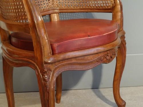 Seating  - French Louis XV Fauteuil de bureau Stamped P. Bara