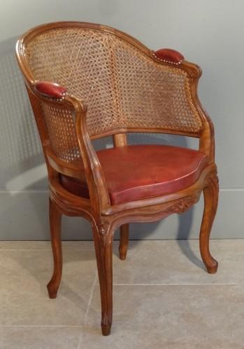 Antiquités - French Louis XV Fauteuil de bureau Stamped P. Bara