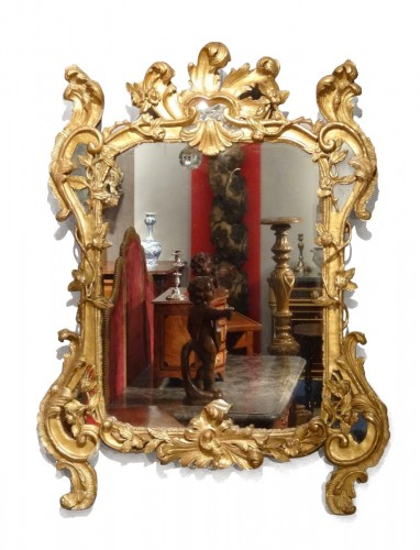 Louis XV mirror gilt wood 18th century