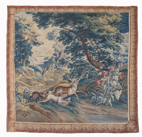 "Aubusson Tapestry ""verdure"" After Oudry 18th Century"