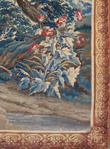 "Aubusson Tapestry ""verdure"" After Oudry 18th Century -"
