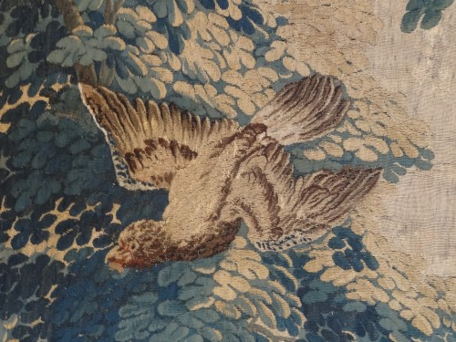 "18th century - Aubusson Tapestry ""verdure"" After Oudry 18th Century"